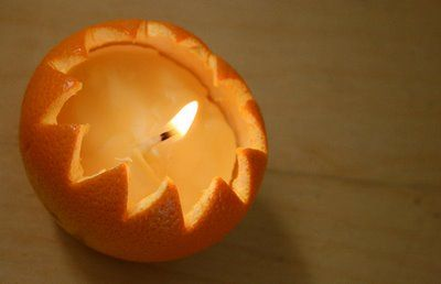 Turn an orange peel into a fragrant homemade candle: http://mominmadison.blogspot.com/2009/02/happy-imbolc.html