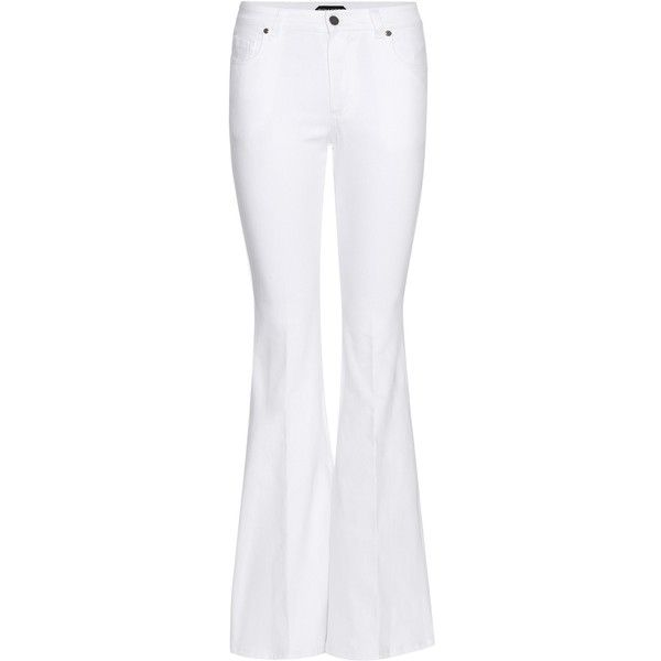Tom Ford Flared Jeans ($610) ❤ liked on Polyvore featuring jeans, pants, tom ford, calças, denim, boot-cut & flared, white, flare denim jeans, flare jeans and denim jeans