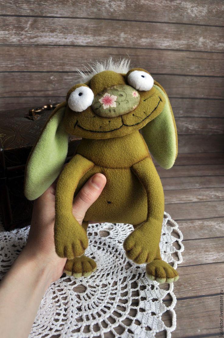 Купить Персивалль - хаки, мягкая игрушка, мягкая игрушка заяц, зайцы ручной работы