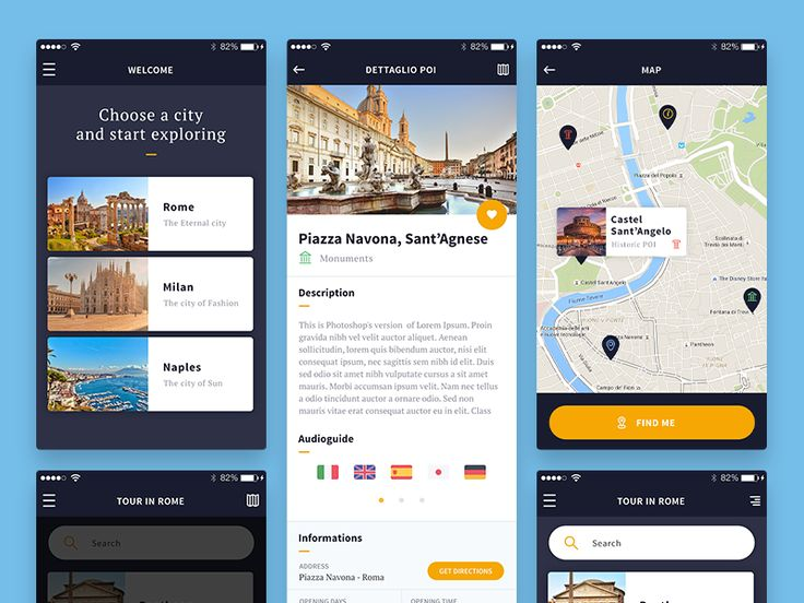 Some screens from a travel app I've been working on lately. Remember to check out the attachment for better details.
