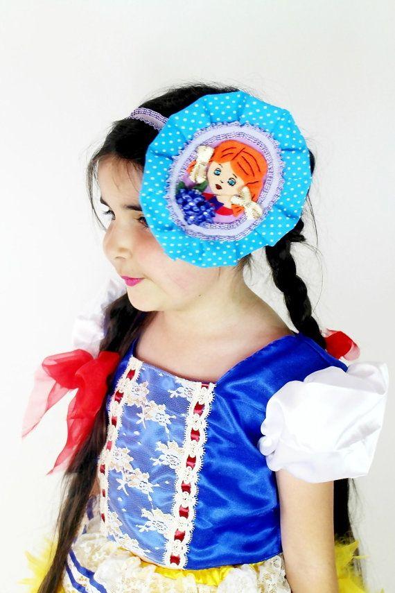 Girls Polka Dot Headband  Vintage Inspired by #FriolinaFancyDesigns