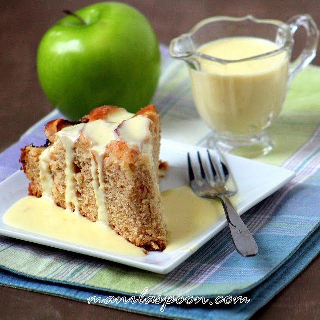 Manila Spoon: Scrumptious Apple Cake with Vanilla Custard Sauce