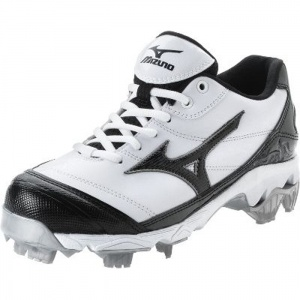 SALE - Womens Mizuno Finch G5 Softball Cleats White Leather - Was $67.99 - SAVE $3.00. BUY Now - ONLY $64.99