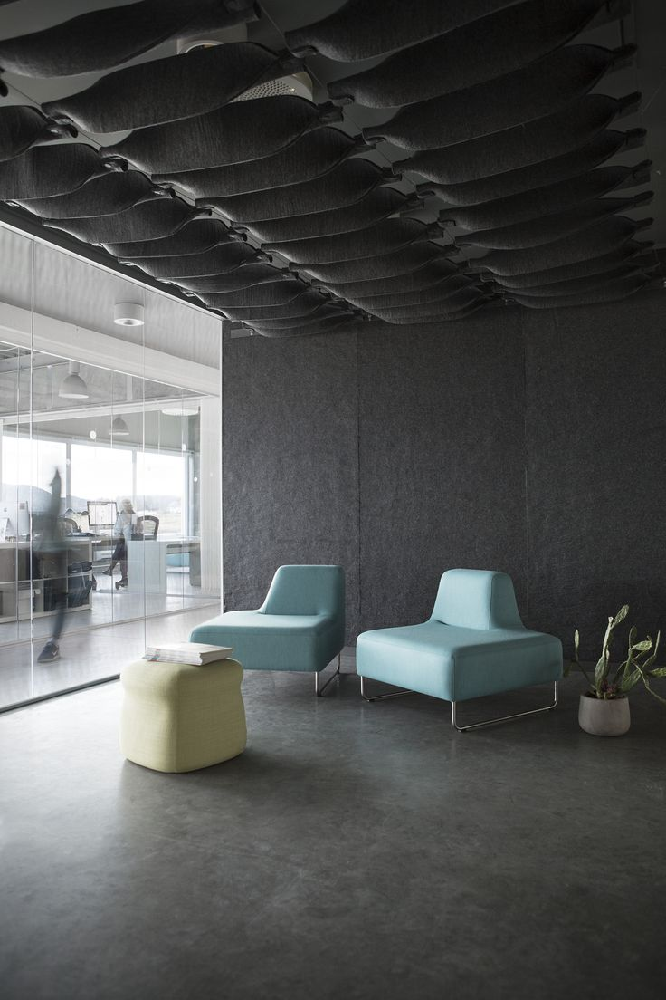 The all New FeltCeiling and FeltRoll from Rom & Tonik. A modular modern and open acoustically superb solution from 100% wool.