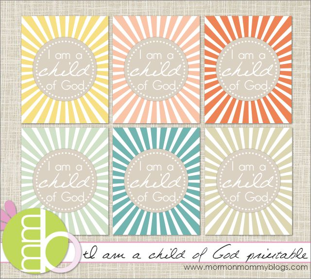 I am a child of God printable