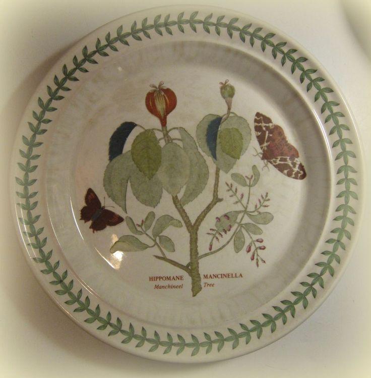 Portmeirion China Dinner Plate, The Botanic Garden. Manchineel Tree #Portmeirion