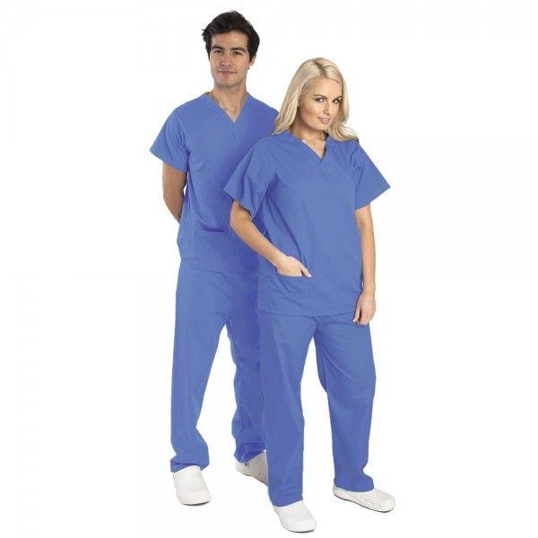 Budget Scrubs Unisex Set in Ceil £16.99  #medicalscrubs #nursescrubs  #nurses #bluescrubs #nurseuniform