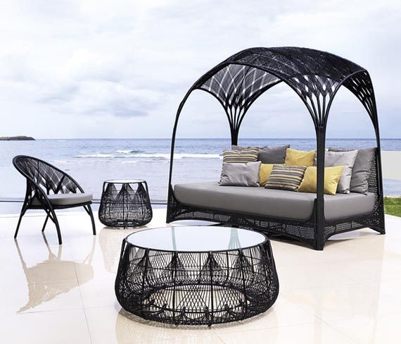 Gothic Style Outdoor Set (day bed, chair, table)