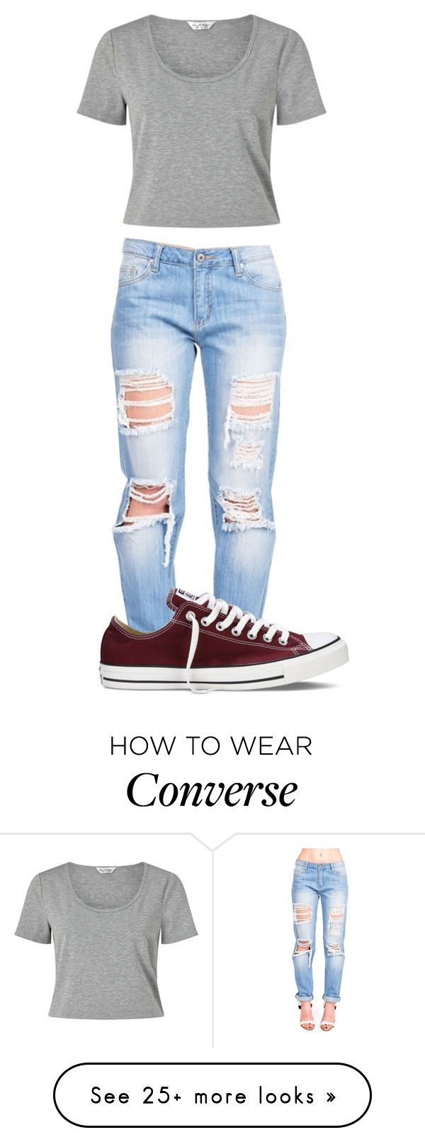 """Untitled #436"" by shiane816 on Polyvore featuring Miss Selfridge and Converse"