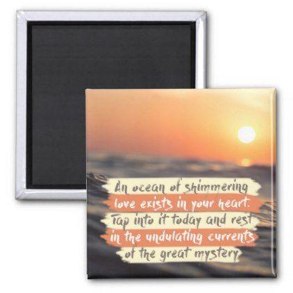 An Ocean Of Shimmering Love Magnet - ocean side nature waves freedom design