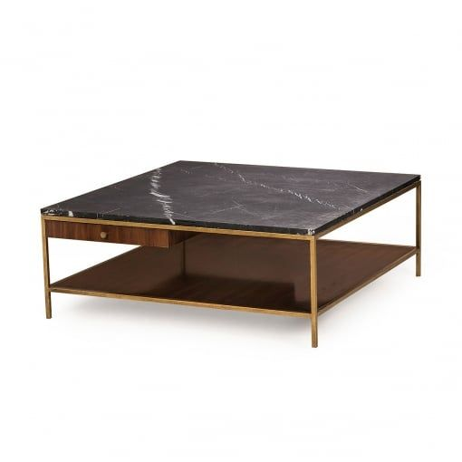 Andrew Martin Rufus Mid Century Marble Top Coffee Table   Andrew Martin  From House Of