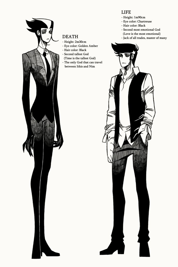 Anime Reference Site..A Matter of Life and Death :: Character Profile 01: Life & Death  | Tapastic Comics - image 1