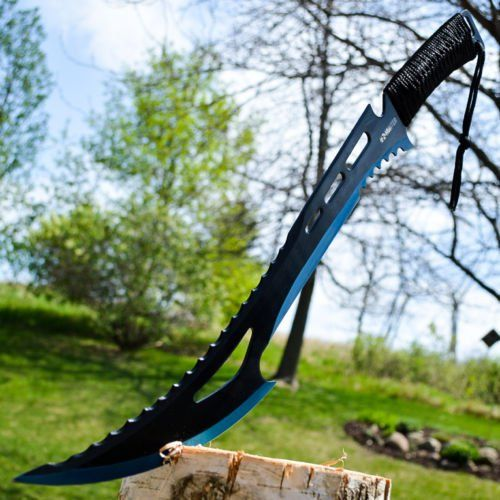 "24"" TACTICAL SURVIVAL Fixed Blade ZOMBIE MACHETE http://ebay.to/1Uk4Of5"