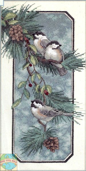 Dimensions - Chickadees On A Branch - Cross Stitch World