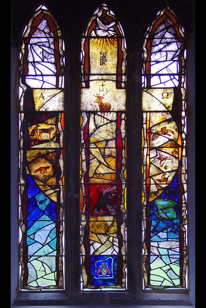 St Helena's Church, Waltham on the Wolds completed stained glass window design