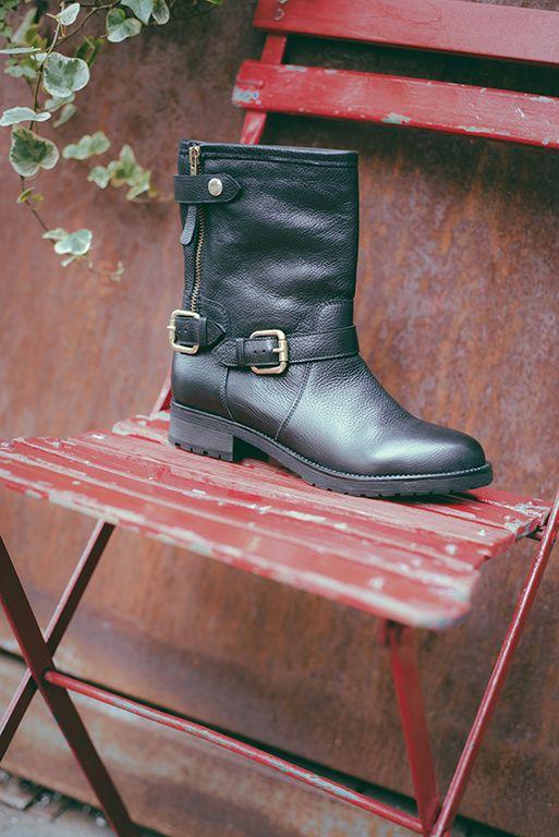 #black #leather #biker #boot by #carmenspadova