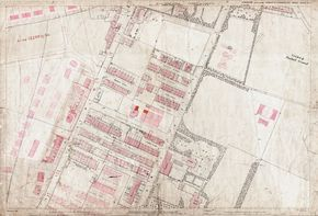 Old Ordnance Survey Map 217-2-4 Pudsey, Farsley and Stanningley, Yorkshire in 1891