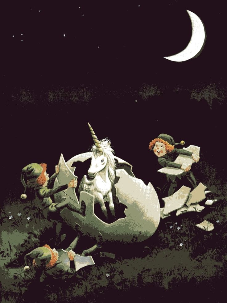 The Woodland Folk Meet the Elves: Illustration by Tony Wolf