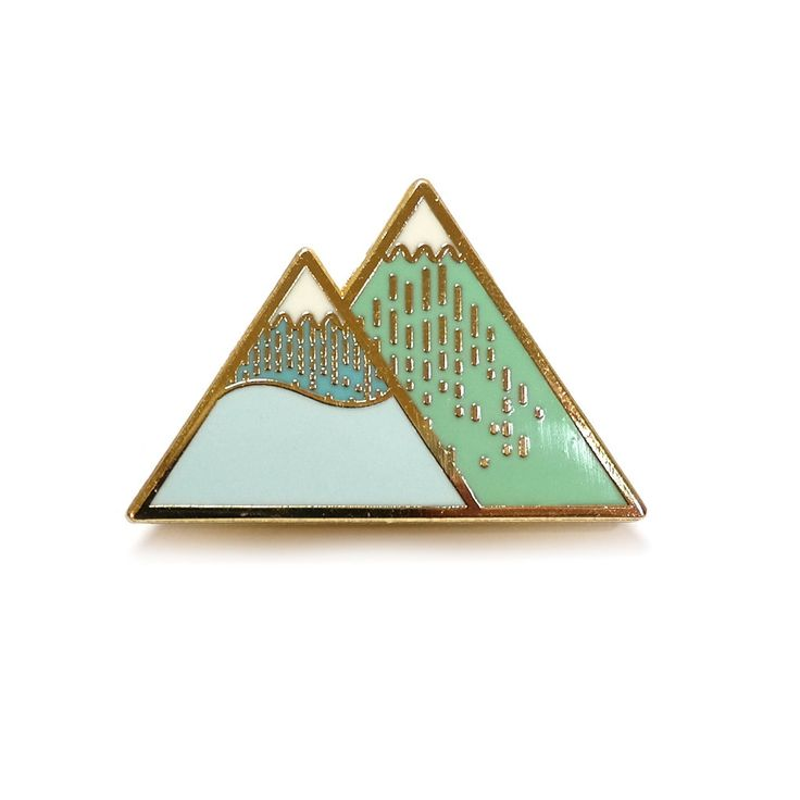 Hannah Zakari - Winter Mountain Brooch #brooches