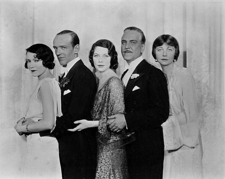 "L to R: Adele Astaire ,Fred Astaire, Tillie Losch, Frank Morgan and Helen Broderick. Publicity photo for ""The Band Wagon""  (1931)"