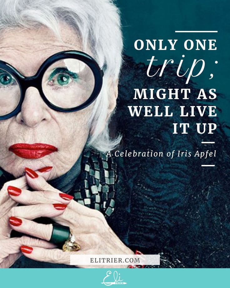 Artist | Creativity | Creative Block | Creative Fear | Inner Critic | Self Care | Ritual | I had never heard of interior designer & fashion icon Iris Apfel before today, but she is the epitome of cool. I hope I am even half as fun, interesting, curious and inspired as this when I'm an old lady. This is just a little taste; I could have (ahem, did) spent hours on Google Images drinking in all the glorious visuals.