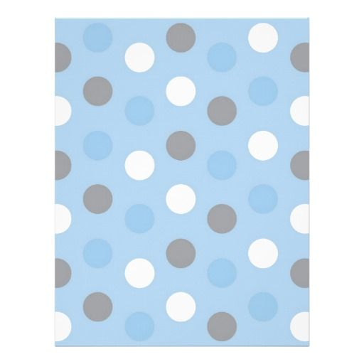 Polka Dot Blue Grey Baby Scrapbook Paper Letterhead