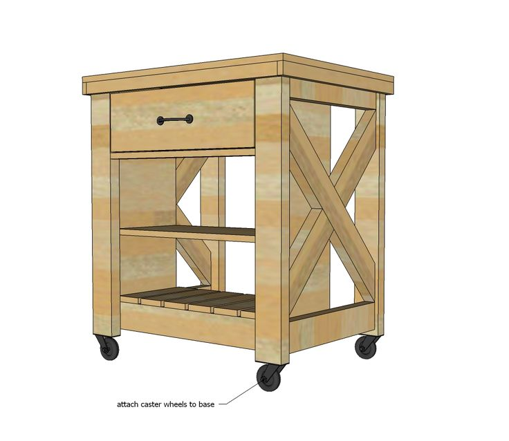 free rolling kitchen island plans woodworking projects plans