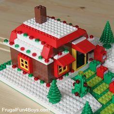 DIY Lego Advent Calendars - close up of gingerbread house