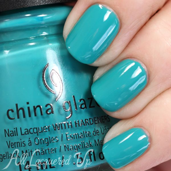 China Glaze My Way or the Highway Spring 2015 teal nail polish/ lacquer via @alllacqueredup