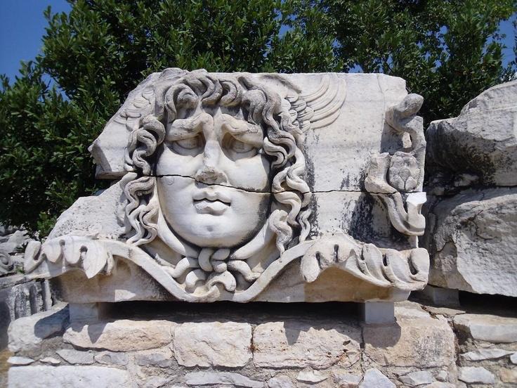 Apollon Temple, Didyma, Turkey. Medusa