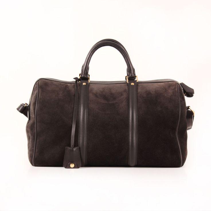 Louis Vuitton Sofia Coppola Suede Asphalt Strap Bag.