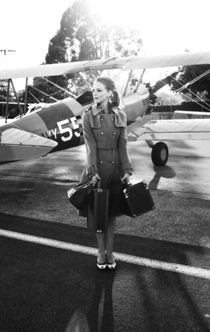 vintage: i'll take that coat &.the plane! I would love to do a vintage  photo shoot sometime.