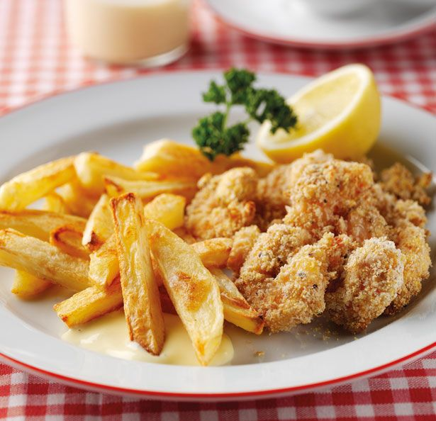 Sixties scampi and chips