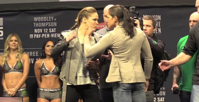 Report: Ronda Rousey Had To Be Consoled After Staredown With Amanda Nunes - http://viralfeels.com/report-ronda-rousey-had-to-be-consoled-after-staredown-with-amanda-nunes/