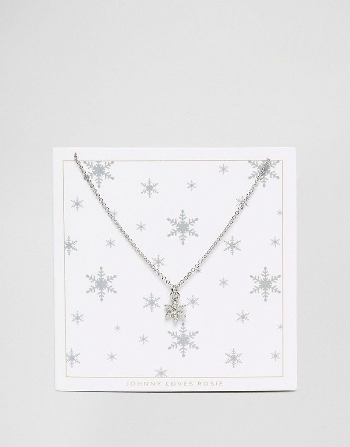 Johnny Loves Rosie Snowflake Holidays Gifting Necklace