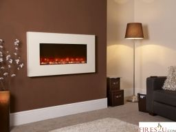 Celsi Electriflame Piano Ivory hang on the wall electric fire is a wall mounted electric fire uses advanced 3D technology to create one of the most realistic flame pictures found in any electric fire today. Relax and enjoy the smoky, soothing flames and be amazed by the depth of the fuel effect. What's more, the high efficiency LED lights used to create the flame picture means that you benefit from low running costs too. Every wall mounted Electriflame fire include an easy fixing wall plate…
