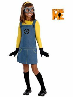 Child Female Minion Costume   Cheap TV and Movie Halloween Costume for Girls