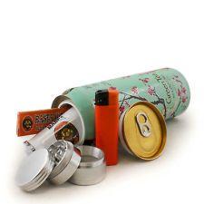 Great gift: Secret Safe Soda Stash Can + Herb Grinder Rasta Cigarette Roller Paper Lighter