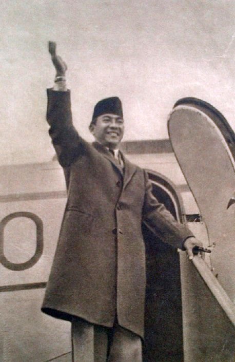 Sukarno Just Landed in Moscow