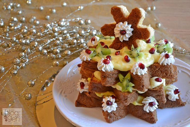 Stella di pandoro, un dolce semplice farcito con crema diplomatica, crema chantilly e frutta fresca, per Natale, Capodanno, feste, con pandoro Balocco.