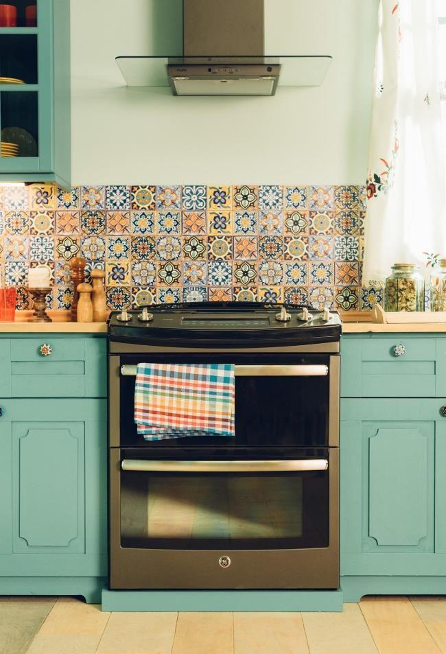 GE Slate Appliances Showcase the Beauty & Not the Fingerprints.   Slide in range, double ovens.