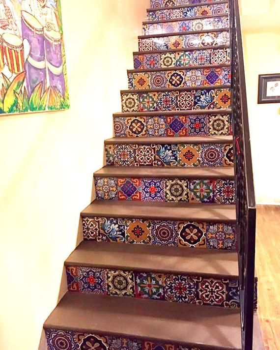 Mexican Stairriser Peel Stick Vinyl Decal Self Adhesive Etsy Stair Riser Vinyl Peel Stick Vinyl Painting Tile