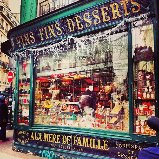 À la mère de famille - Paris. Chocolate. Paris's oldest sweet shop, founded in 1761 and still operating in its original location, is a marvellous little store that hasn't changed much over the past 250 years. 35, rue du Faubourg-Montmartre, 75009 Paris Métro: Cadet, Le Peletier or Grands-Boulevards Tel. +33 (0)1 47 70 83 69 Hours: Mon. to Sat. 10 a.m. to 7 p.m. Other locations.