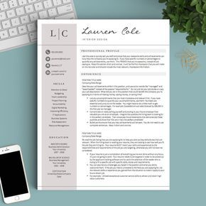 Creative Resume Template for Word and Pages: The Lauren - Instant Download Resume Template - US Letter and A4 CV Templates included - Mac & PC Compatible using Microsoft Word and Mac Pages - COMPLETELY CUSTOMIZABLE templates: Change fonts, colors, headings, or add/delete