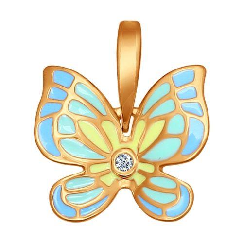 Кулон бабочка c эмалью арт. 93030248 от SOKOLOV