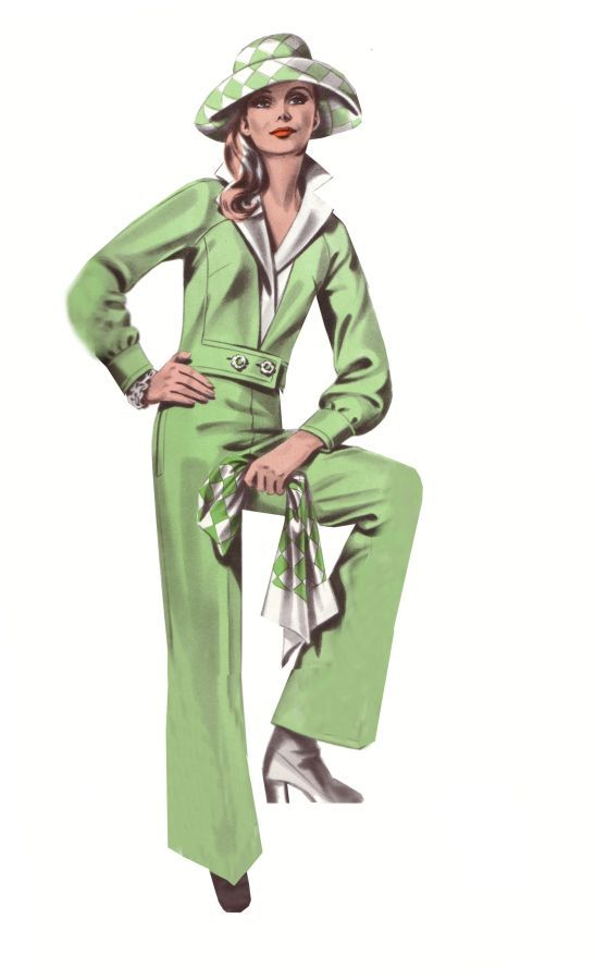 Fashion design trouser suit from 1974 fashion history for History of fashion designers