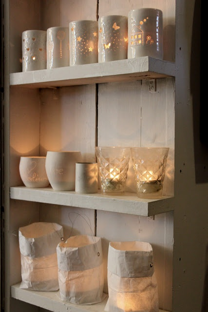 Luna Maxi tea lights in one of my lovely Norway shops, available from www.lunalighting.co.uk