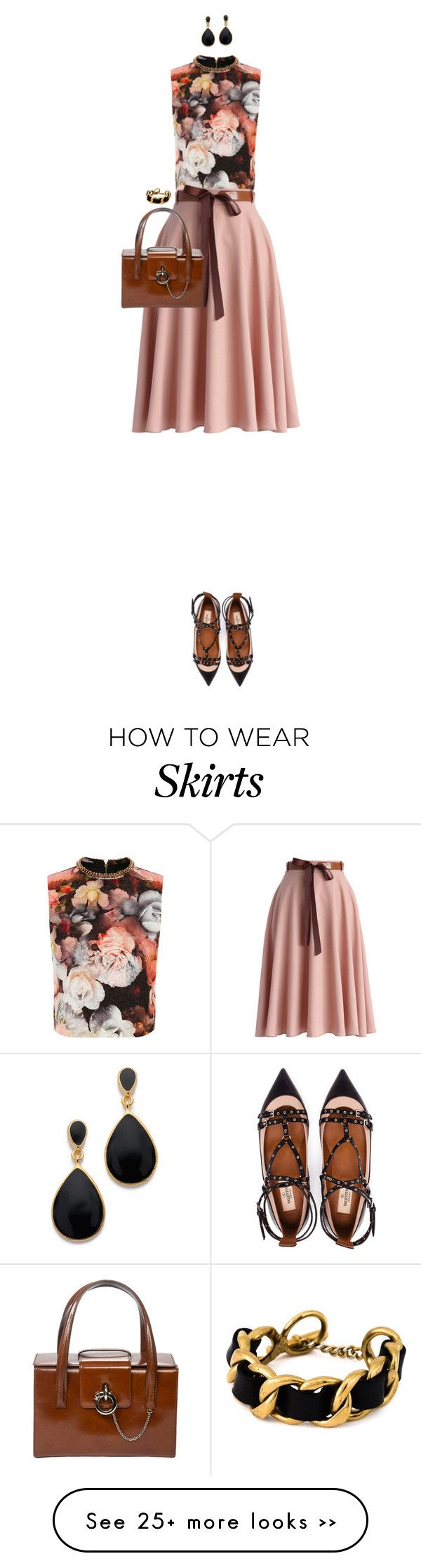 """Belted Skirt"" by ittie-kittie on Polyvore"