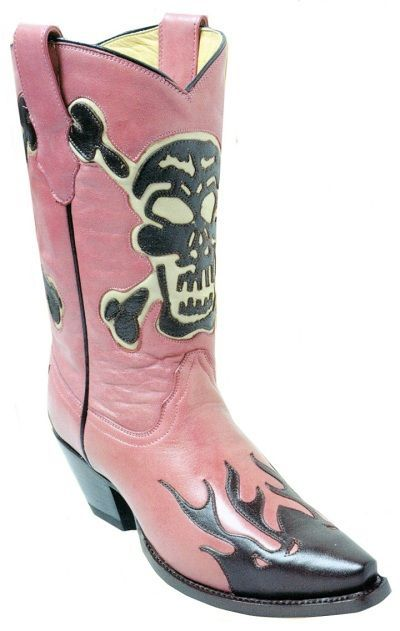 I want these Rancho loco pink skull cowboy boots!!!