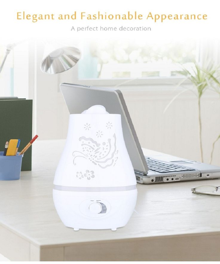 2.4L Ultrasonic Essential Oil Diffuser LED Light Air Humidifier Purifier Home Decor PP White Big Small